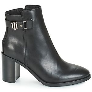 Tommy Hilfiger Bottines TH BUCKLE HEELED BOOT LEATHER