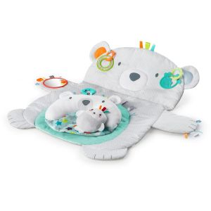 Bright Starts Tapis d'éveil Ours Polaire Tummy Time Prop & Play