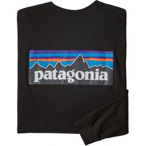 Patagonia T-shirt M's L/S P-6 Logo Responsibili-Tee - Couleur XXL,S,M,L,XL - Taille Noir