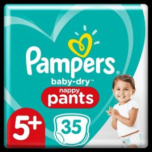 Pampers Baby-Dry Pants Couches-Culottes Taille 5+, 35 Culottes