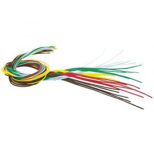 O Color Lot de 25 lacets de 70cm, diamètre 2 mm en coton pour laçage ou tissage, couleurs assorties - Lot de 4