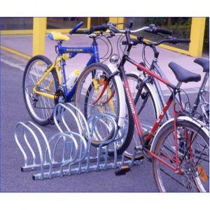 Mottez Râtelier range 20 vélos au sol face à face B198C
