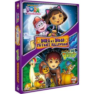 Coffret Dora l'exploratrice : Dora et le petit monstre d'Halloween + Go Diego ! : Diego sauve Halloween
