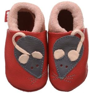Pololo Chaussons en Cuir - Minni Rose 24/25
