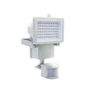Projecteur solaire LED avec détecteur 1000 Lumens hauteur 17cm blanc
