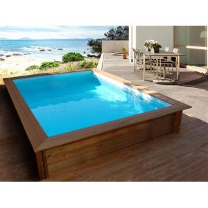 VIVA POOL Piscine bois rectangle Toledo - 3.00 x 2.00 x 0.71 m
