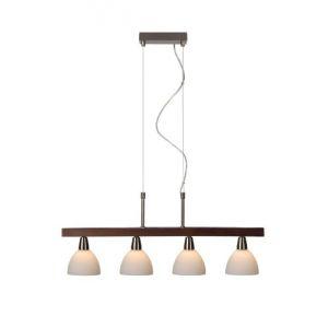 Lucide Mehogna-4 - Suspension 4 ampoules en métal et bois