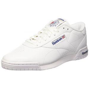 Reebok Ex-O-Fit Lo Clean Logo Int, Baskets Basses Homme, AR3169_39 EU_White/Royal Blue/Royal Blue, 42 EU