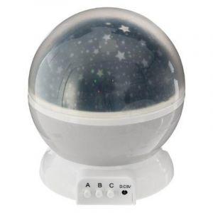 """Atmosphera Veilleuse Projecteur Rotative """"Etoile"""" 14cm Gris"""