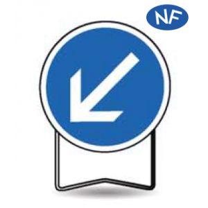 Taliaplast 524017 - Panneau signalisation prescription b21a2 obligation à gauche t1 850mm