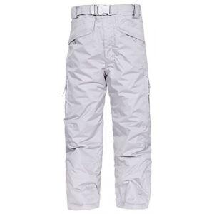 Trespass Marvelous Pantalon de Ski Mixte Enfant, Gris, FR : XL (Taille Fabricant : 11-12)