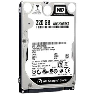 Western Digital WD3200BEKT - Disque dur Scorpio Black 320 Go 2.5'' SATA II 7200 rpm