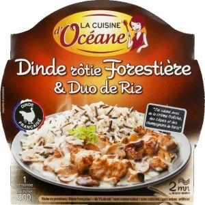 La Cuisine d'Océane Dinde rôtie forestière & duo de riz