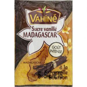 Vahiné Sucre vanillé de Madagascar, vanille intense au sucre roux de canne - Les 5 sachets, 7,5g