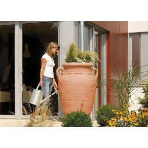 Garantia Collecteur Amphore Antik avec bac à plantes terracotta