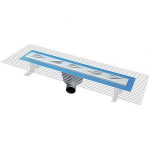 First Plast Pratiko2 - Caniveau de douche italienne avec grille Onda (600 x 60 mm)