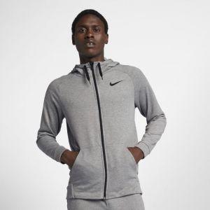 Nike Sweat à capuche de training entièrement zippé Dri-FIT pour Homme - Gris - Couleur Gris - Taille L