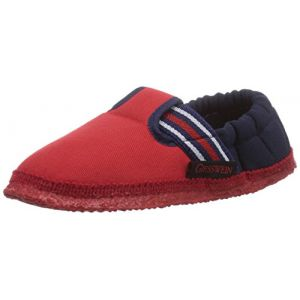Giesswein Aichach, Chaussons Doublé Chaud mixte enfant, Rouge (312 Feuer) 27 EU