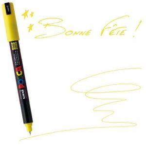 Posca Uni-Ball - Marqueur pointe calibrée extra fine jaune - PC1MR J