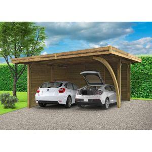Solid Carport Combination 506,4x606,4cm