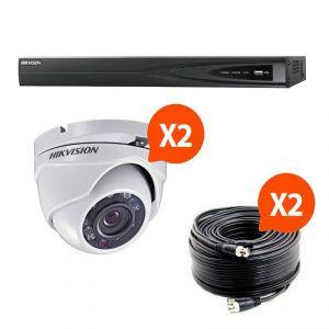 Hik vision HIK-2DOM-THD - Kit vidéosurveillance Turbo HD avec 2 caméras dôme N°1