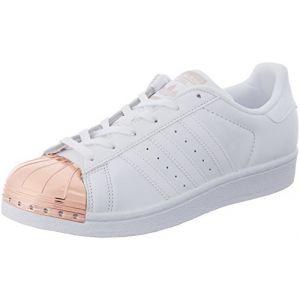 Adidas Superstar Metal Toe, Sneakers Basses Femme, Blanc, 39 1/3 EU