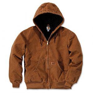 Carhartt Quilt Flannel Lined Sandstone Active Veste Marron S