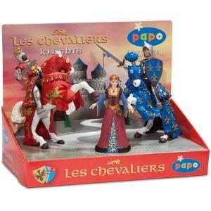 Papo Boîte présentoir de 5 figurines de Chevaliers et reine