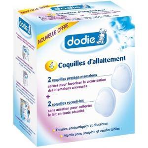 Dodie 7929845 - 4 coquilles d'allaitement