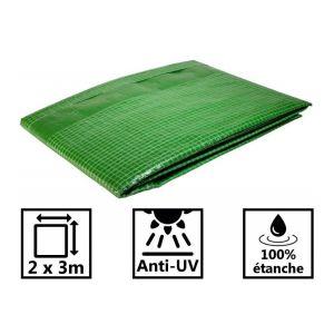 Toile de toit pour tonnelle et pergola 170g/m² verte 2x3 m
