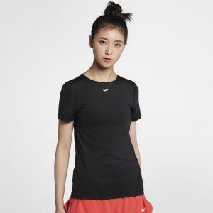Nike Haut de training en meshà manches courtes Pro pour Femme - Noir - Taille M - Femme