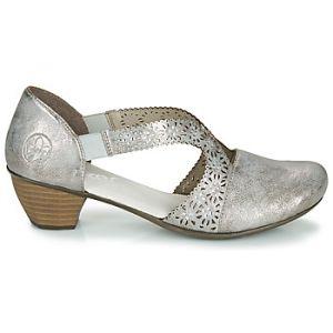 Rieker Chaussures escarpins RIAE - Couleur 36,37 - Taille Argenté