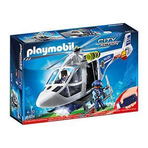 Playmobil 6874 City Action - Police hélicoptère avec LED projecteur