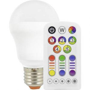 Müller Licht Ampoule LED E27 400005 forme standard 7.5 W = 40 W RVBB (Ø x L) 61 mm x 105 mm EEC: A à couleur changeante,