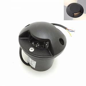 Silamp Spot LED Encastrable Extérieur IP65 220V Sol 3W Walkable 2 faisceaux - couleur eclairage : Blanc Neutre 4000K - 5500K