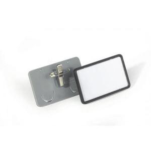Durable 8130-10 - Porte-badges Clip-Card avec pince combi (75 x 40 mm)