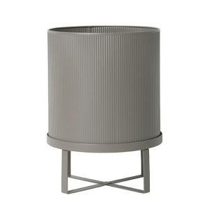 Ferm Living Pot de fleurs Bau Large / Ø 28 cm - Métal gris chaud en métal
