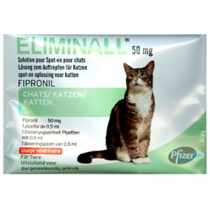 Pfizer Eliminall 50 mg - Solution pour Spot-On pour chats