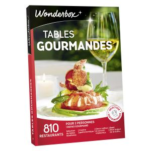 Wonderbox Tables gourmandes - Coffret cadeau 810 restaurants