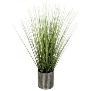 """Plante Artificielle en Pot """" rbe"""" 45cm Gris Prix"""