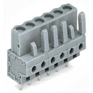 Wago 232-137 - Connecteur femelle droit gris 7 pôles avec broches à souder sur circuit imprimé pas 5 mm emballage industriel de 50 pc(s)