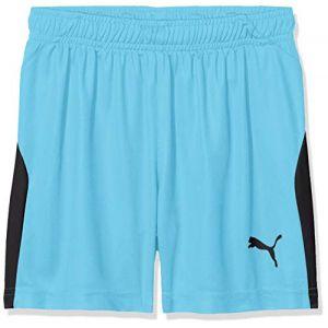 Puma Short de foot LIGA pour enfant, Bleu/Noir, Taille 116