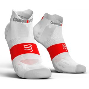 Compressport Pro Racing V3.0 UItralight Run Low - Chaussettes course à pied - blanc Chaussettes Running