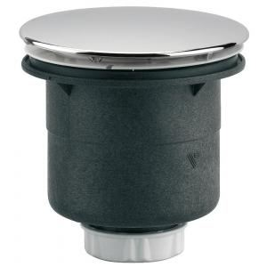 Valentin 55300000000 - Bonde siphoide sortie verticale pour receveur D90 plastique à visser ou à coller chrome