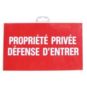 Novap Panneau rigide 330 x 200 mm 404 propriete privee defense d'entrer