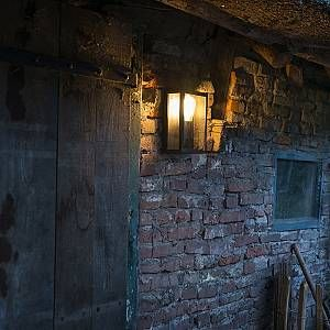 Qazqa Moderne Applique murale extérieure rectangulaire moderne noire - Rotterdam 2 Verre/Acier inoxydable/Carré Compatible pour LED E27 Max. 1 x 60 Watt/Jardin / Luminaire/Lumiere / Éclairage