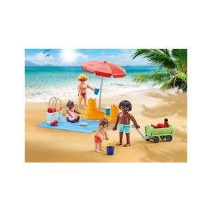 Playmobil 9819 - Famille à la Plage avec Accessoires - Emballage Plastique, pas de boîte