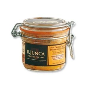 R. Junca Foie gras de canard entier du Sud-ouest au piment d'Espelette