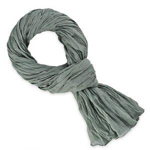 Allée du foulard Echarpe Chèche coton gris uni Gris - Taille Unique