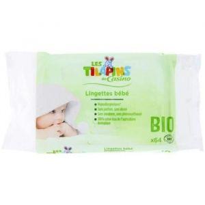 Les Tilapins Lingettes bébé au liniment oléo-calcaire - 64 lingettes